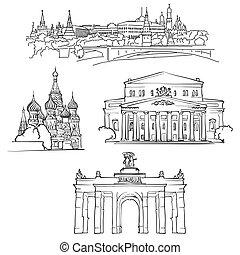 famoso, russia, costruzioni, mosca