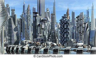 fantascienza, città