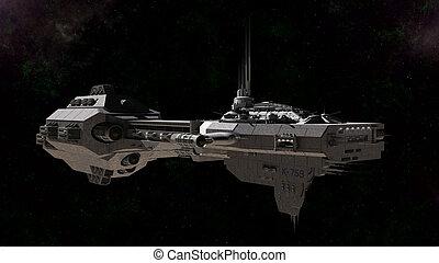 fantascienza, gunship