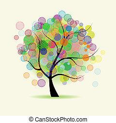 fantasia, arte, albero