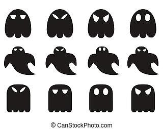 fantasma, set, icone