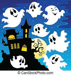 fantasma, tema, 2, immagine