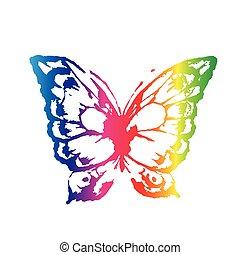 farfalla, acquarello, disegno