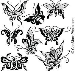 farfalla, capriccio, illustrazione