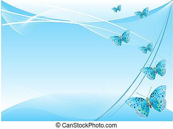 farfalla, fondo, astratto