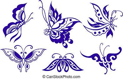 farfalla, illustrazione