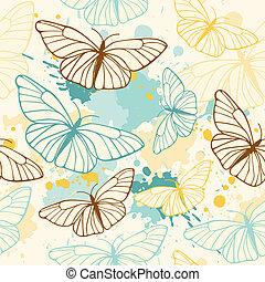 farfalla, modello, seamless