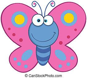 farfalla, sorridente