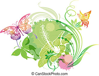 farfalle, illustrazione