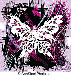 farfalle, vettore, backgroung