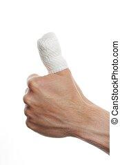 fasciatura, dito
