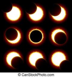 fasi, eclissi, solare