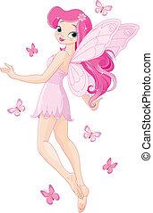 fata, rosa, carino