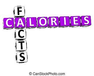 fatti, cruciverba, calorie, 3d