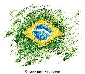 fatto, brasile, punti, bandiera, colorito