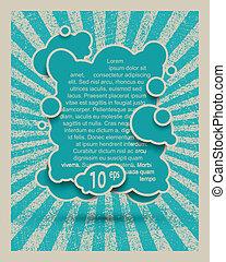 fatto, eps10, grande, bubbles., discorso, piccolo, bolla