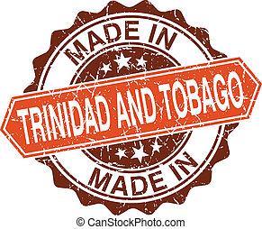 fatto, francobollo, vendemmia, tobago, isolato, fondo, bianco, trinidad