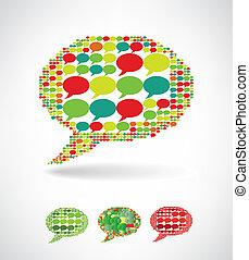 fatto, grande, discorso, piccolo, bolle, bolla