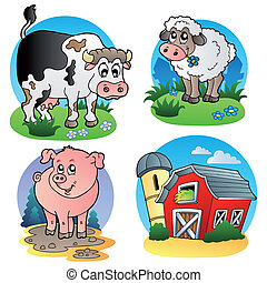 fattoria, 1, vario, animali