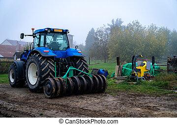 fattoria, campagna, trattore