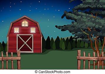 fattoria, fattoria, notte