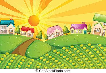 fattoria, villaggio