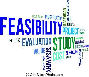 feasibility, parola, studio, -, nuvola