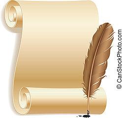 feather., carta