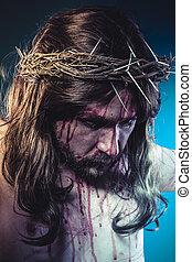 fede, cristo, corona, croce, gesù, religione, ferite, calvary, spine, rappresentazione