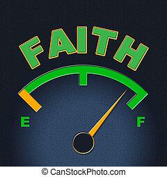 fede, indicatore, scala, calibro, religioso, mostra