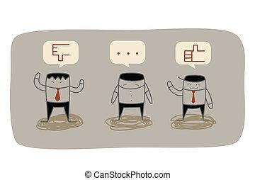 feedback, affari, marketing, domanda, ricerca, uomo