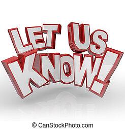 feedback, ci, permettere, sapere, parole, ingresso, comments