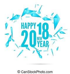 felice, anno, nuovo, fondo, 2018