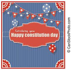 felice, augurio, giorno, costituzione