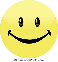 felice, bottone, smiley, distintivo, faccia