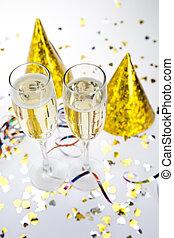 felice, collezione, anno nuovo