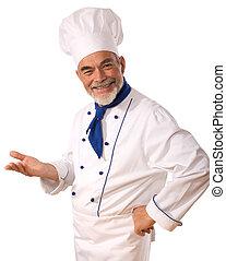 felice, cuoco, attraente