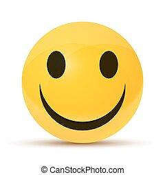 felice, faccia gialla