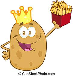 felice, patata, corona