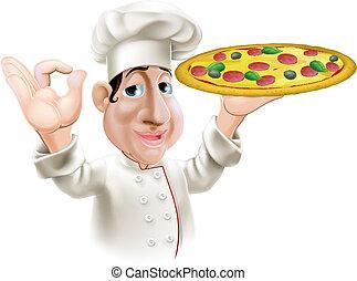 felice, pizza, chef