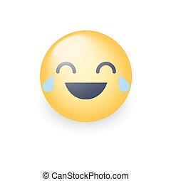 felice, risata, smiley fronteggiano, pianto, joy., ridere, pianto, emoticon., cartone animato, emoji
