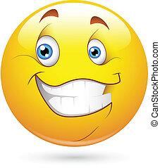 felice, smiley, carattere, faccia