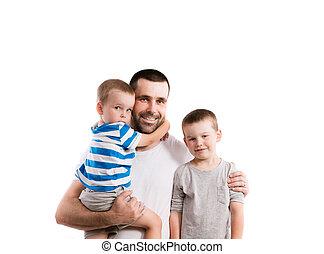 felice, suo, padre, figlio