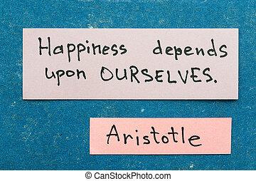 felicità, depends