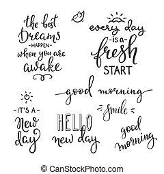 felicità, mattina, citare, vita, motivazione