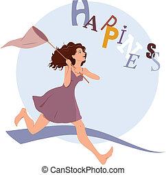 felicità, perseguire