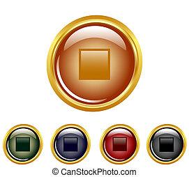 fermata, set, buttons.