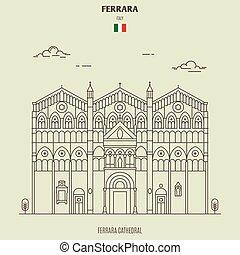 ferrara, italy., punto di riferimento, icona, cattedrale