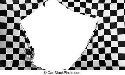 fesso, bandierina checkered