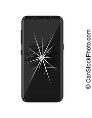 fesso, smartphone, schermo